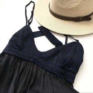 ZARA Navy Black Open Back Bralette Style Dress